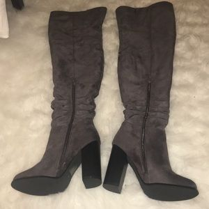 Asos Dark Grey Thigh High Boots